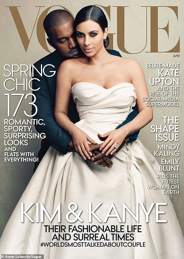 Vogue cover of Kim and Kanye Wedding controversial