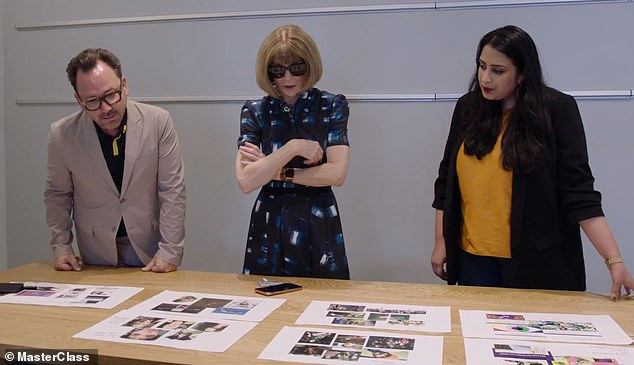 Anna Wintour working at Vogue
