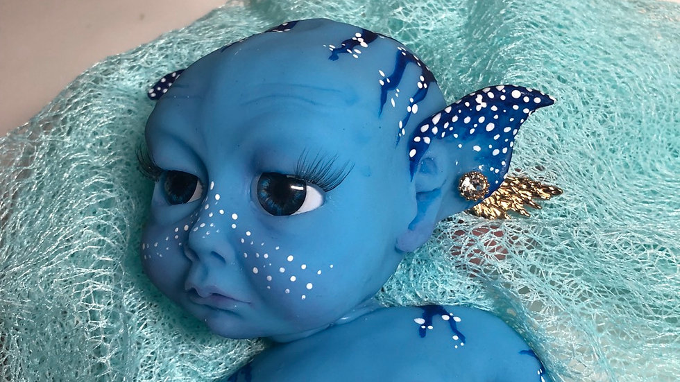 "12"" full body silicone Avatar inspired baby girl"