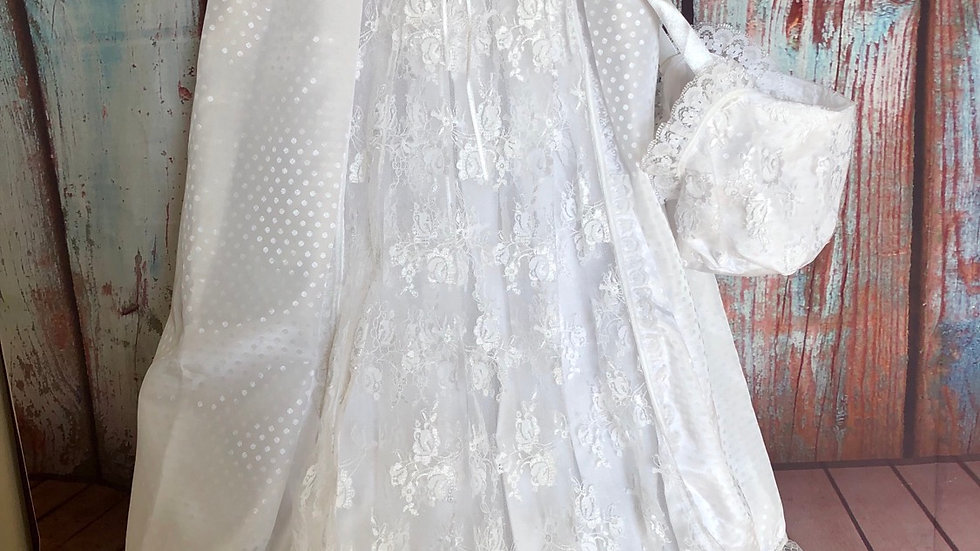 Christening gown with a bonnet