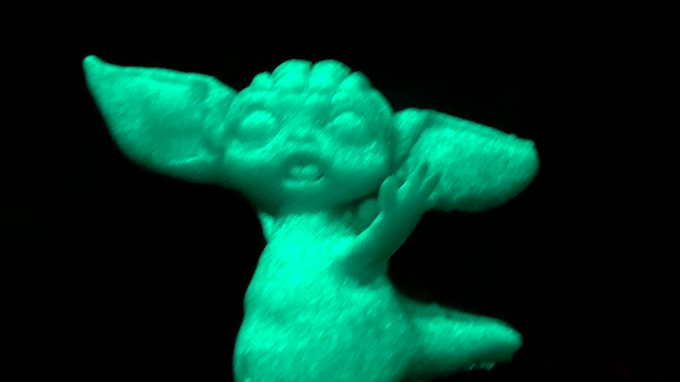 Full body silicone fantasy mini baby Yoda inspired doll