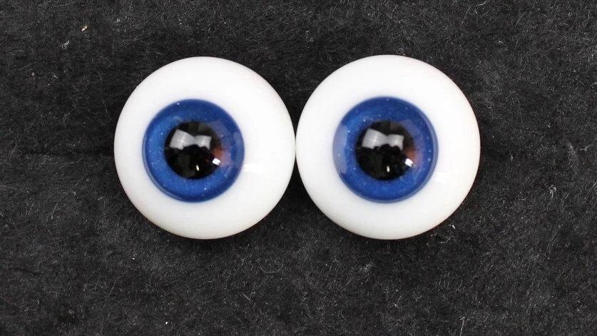 Glass eyes deep blue 8mm