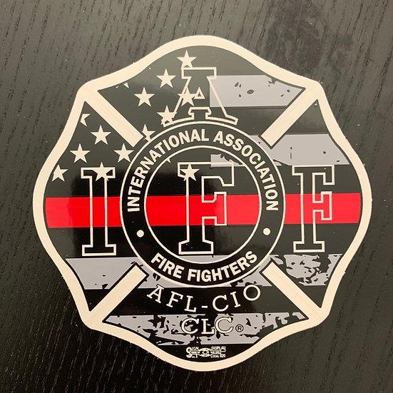 IAFF Sticker - Thin Red Line