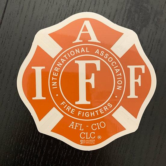 IAFF Sticker - Burnt Orange