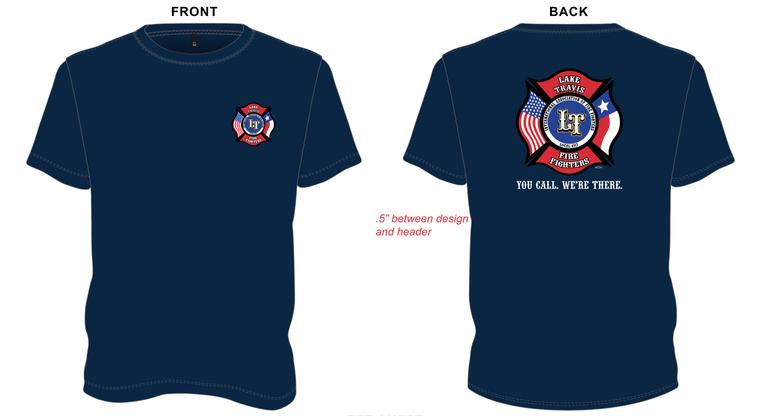 LTfirefighters - T-Shirt w/Back Logo