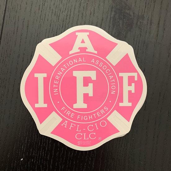 IAFF Sticker - Pink