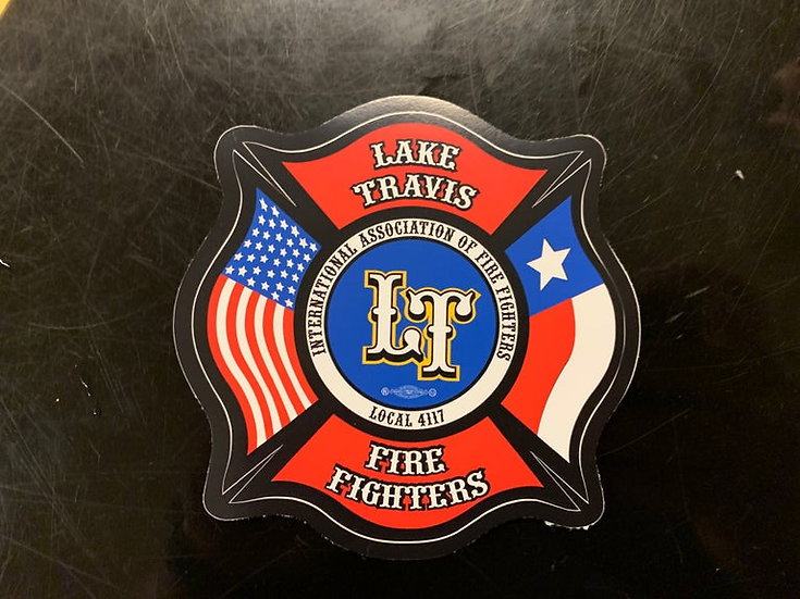 LTfirefighters - Large Sticker