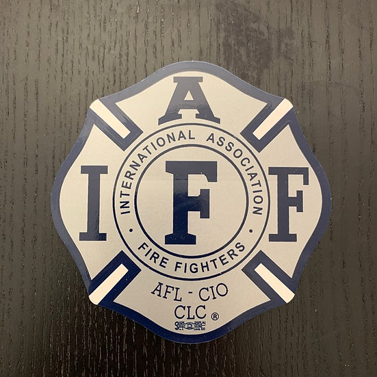 IAFF Sticker - Silver and Blue