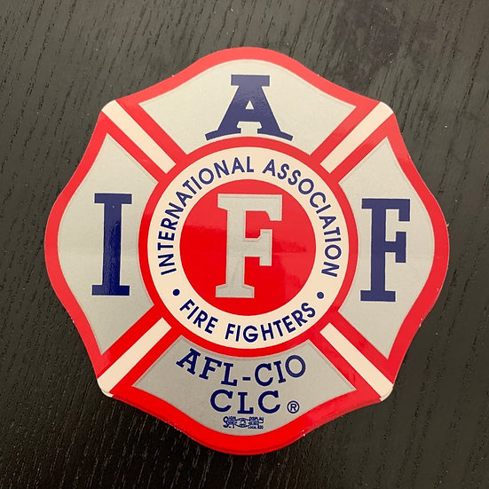 IAFF Sticker - Red and Silver