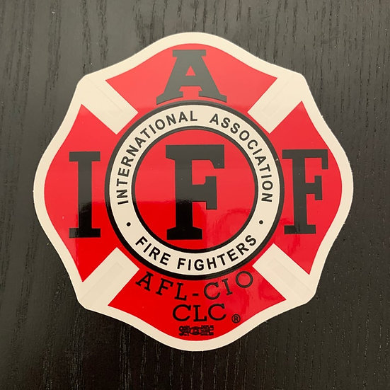 IAFF Sticker - Traditional Red