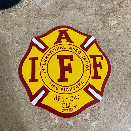 IAFF Sticker - Yellow and Red