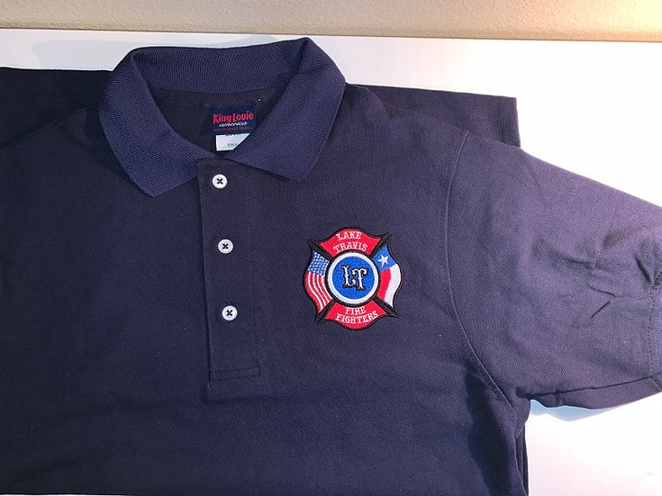 LTfirefighters - Polo - 100% Cotton - Navy Blue