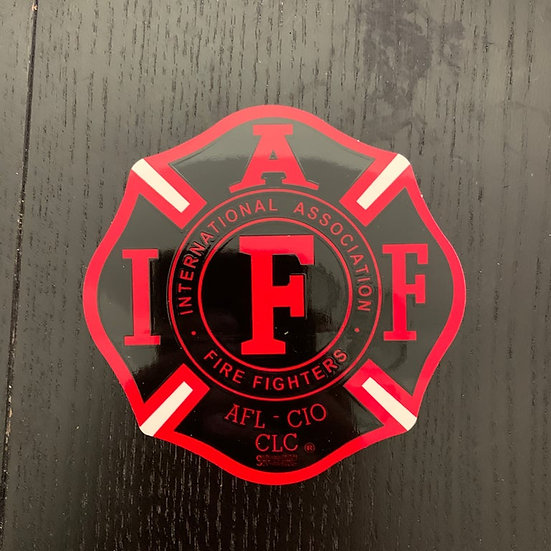 IAFF Sticker - Black and Red