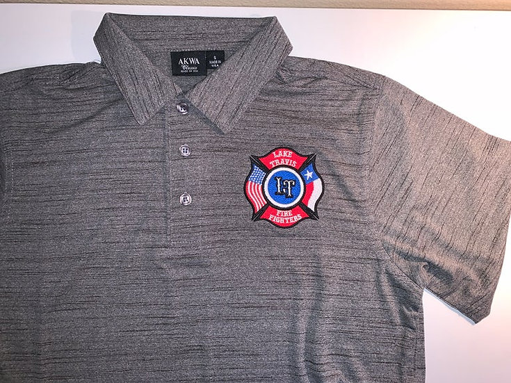 LTfirefighters - Polo - Tiger Stripe - Charcoal Gray