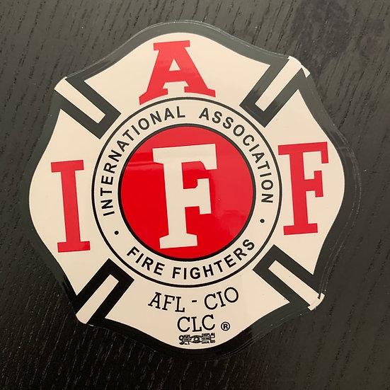 IAFF Sticker - Red and White