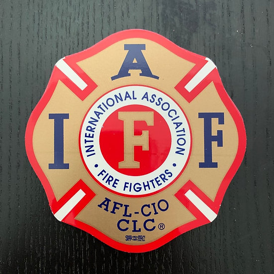 IAFF Sticker - Red and Gold
