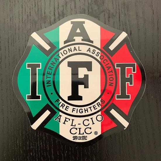 IAFF Sticker - Italian Flag