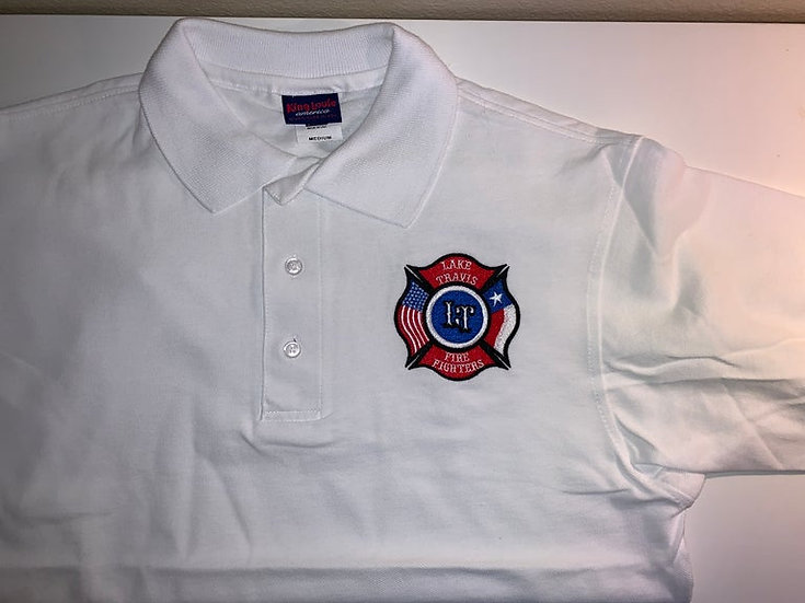 LTfirefighters - Polo - 100% Cotton - White