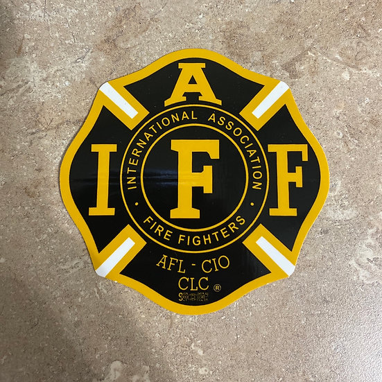 IAFF Sticker - Gold & Black