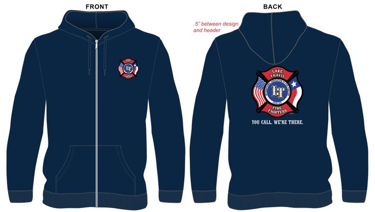 OLD LTfirefighters - Zip Hoodie w/Back Logo