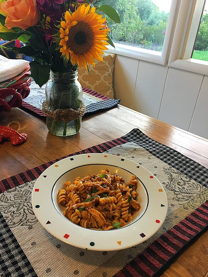Chicken Fettuccine Chorizo Alfredo