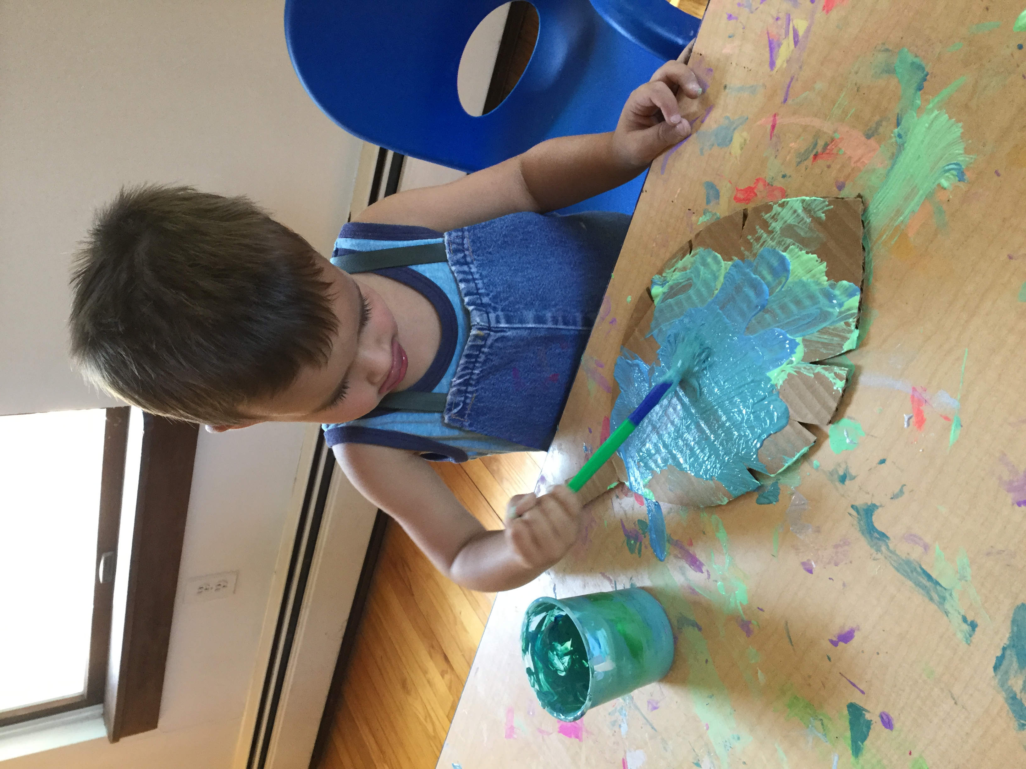 carson in art studio