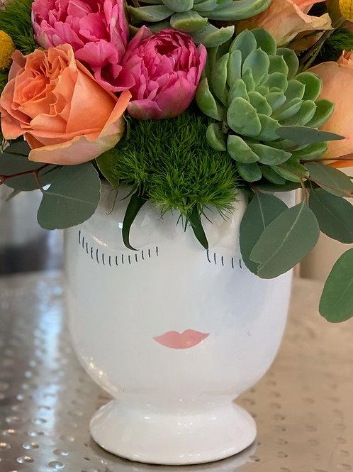 Lady's Face Vase