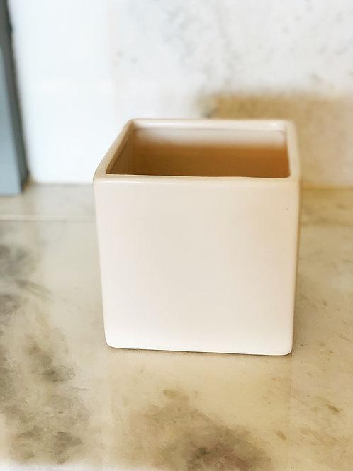 White Ceramic Cube