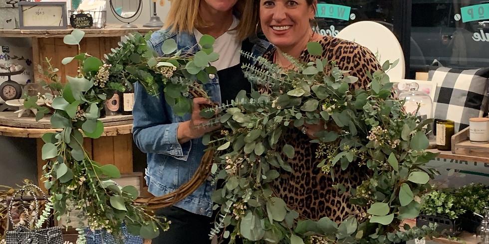 Virtual Spring Fresh Eucalyptus Wreath Class