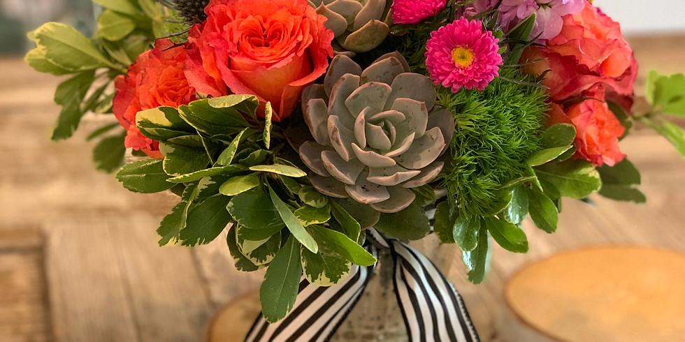 Beginner Floral Class at the Flower Garage