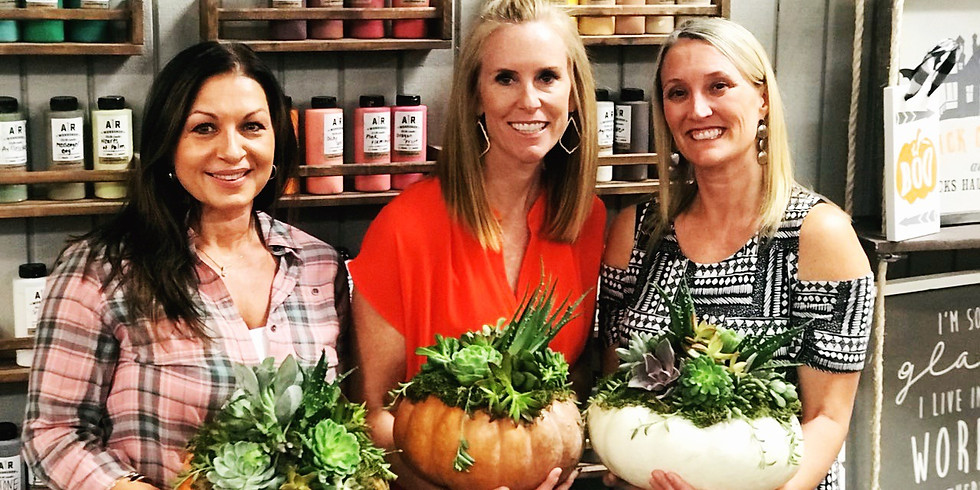 Private Pumpkin and Succulent Event - Amy Slethaug