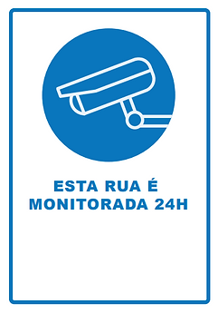 Aba Web Videomonitoramento em Nuvem / Consultoria em Telecomunicações / placa Rua Monitorada 24H.png