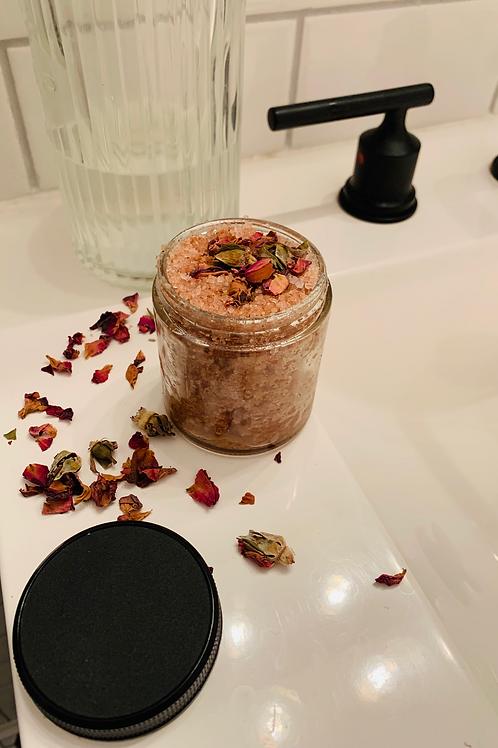 Rose + Coconut Pink Salt Scrub