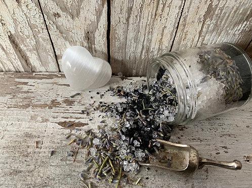 Black Lava Salt + Lavender Goddess Soak