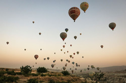 Balloons over Cappodocia