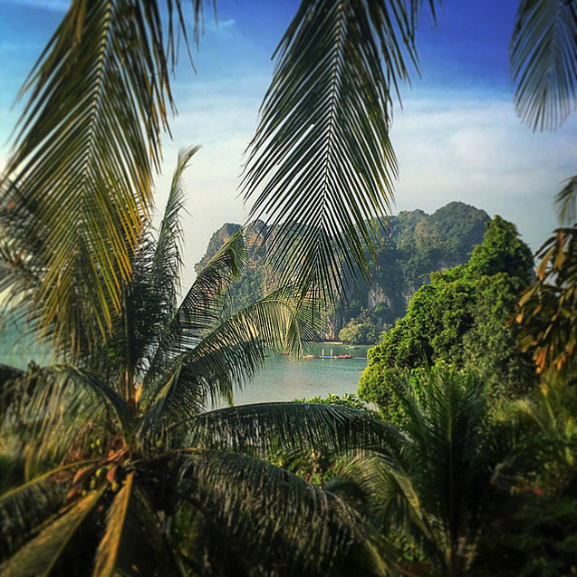 The view from our hut at Railay Beach. Not too shabby!