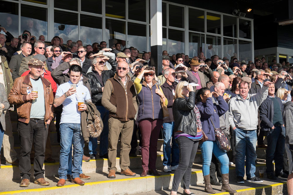 Crowd at Hereford Racecourse