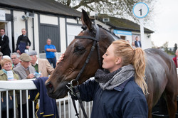 Groom and winning horse
