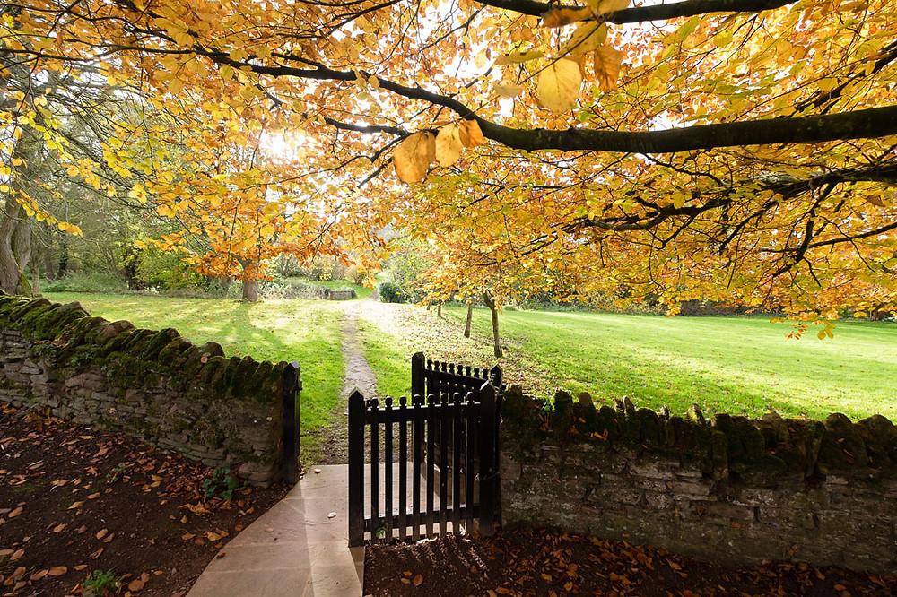 Dewsall Court in autumn