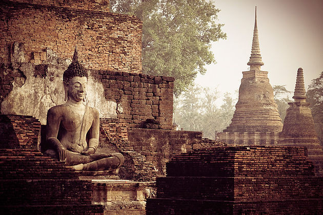 Ancient temples at Sukhothai
