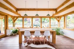 Oak-framed dining room
