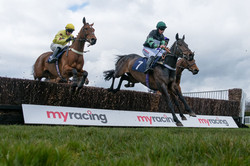 The last fence at Hereford