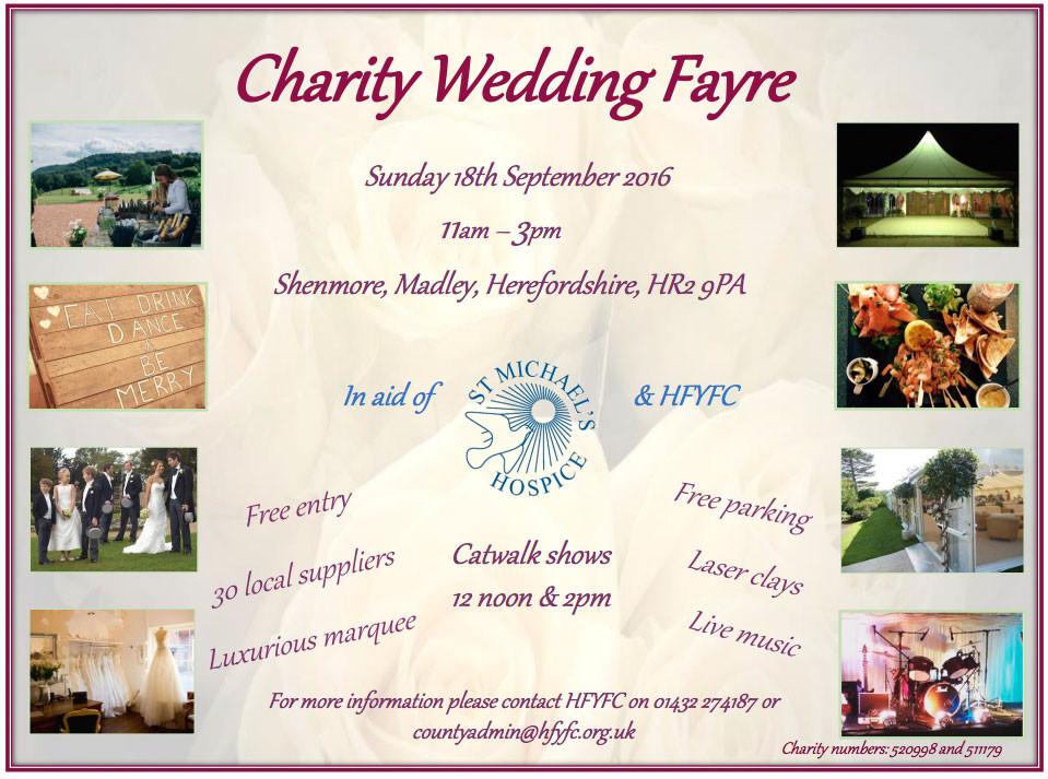 HFYFC charity wedding fayre flyer