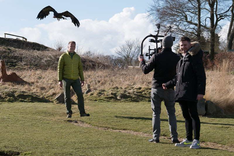 Filming with vultures