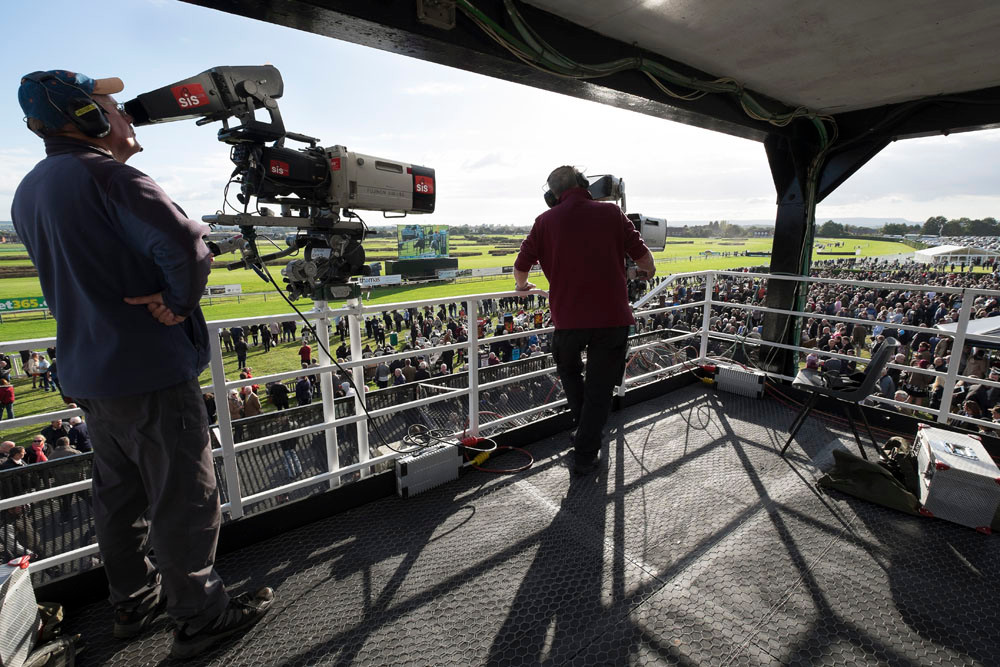 Cameras at Hereford Races