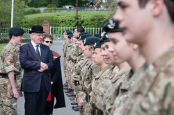 Royal cadet inspection