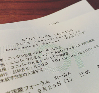 SING LIKE TALKING 30th Anniversary Live