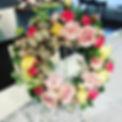 オーダーリース🌹_ご自宅の玄関に飾るパステルカラーのリース✨ピンク、ソフトイエ