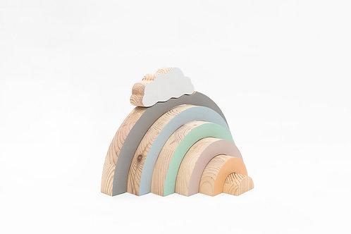 קשת בענן מעץ פסטל