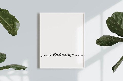 הדפס להורדה- Dreams